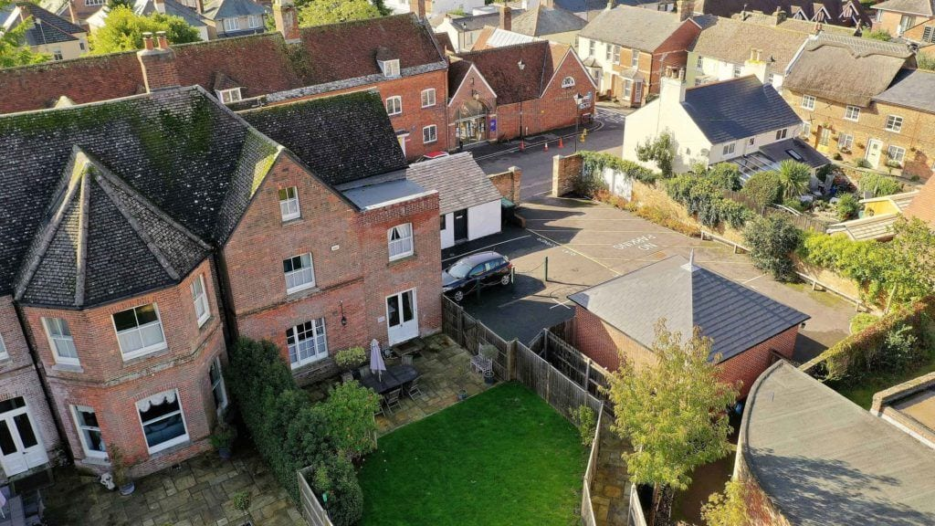 Quay Corner birds eye view of this beautiful 3 storey self catering property in a popular location