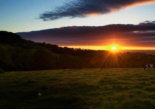 Sundown in Devon on your self catering holiday