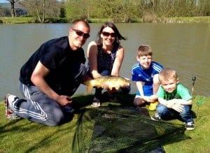 South Farm guests enjoying fishing the lakes on their holiday
