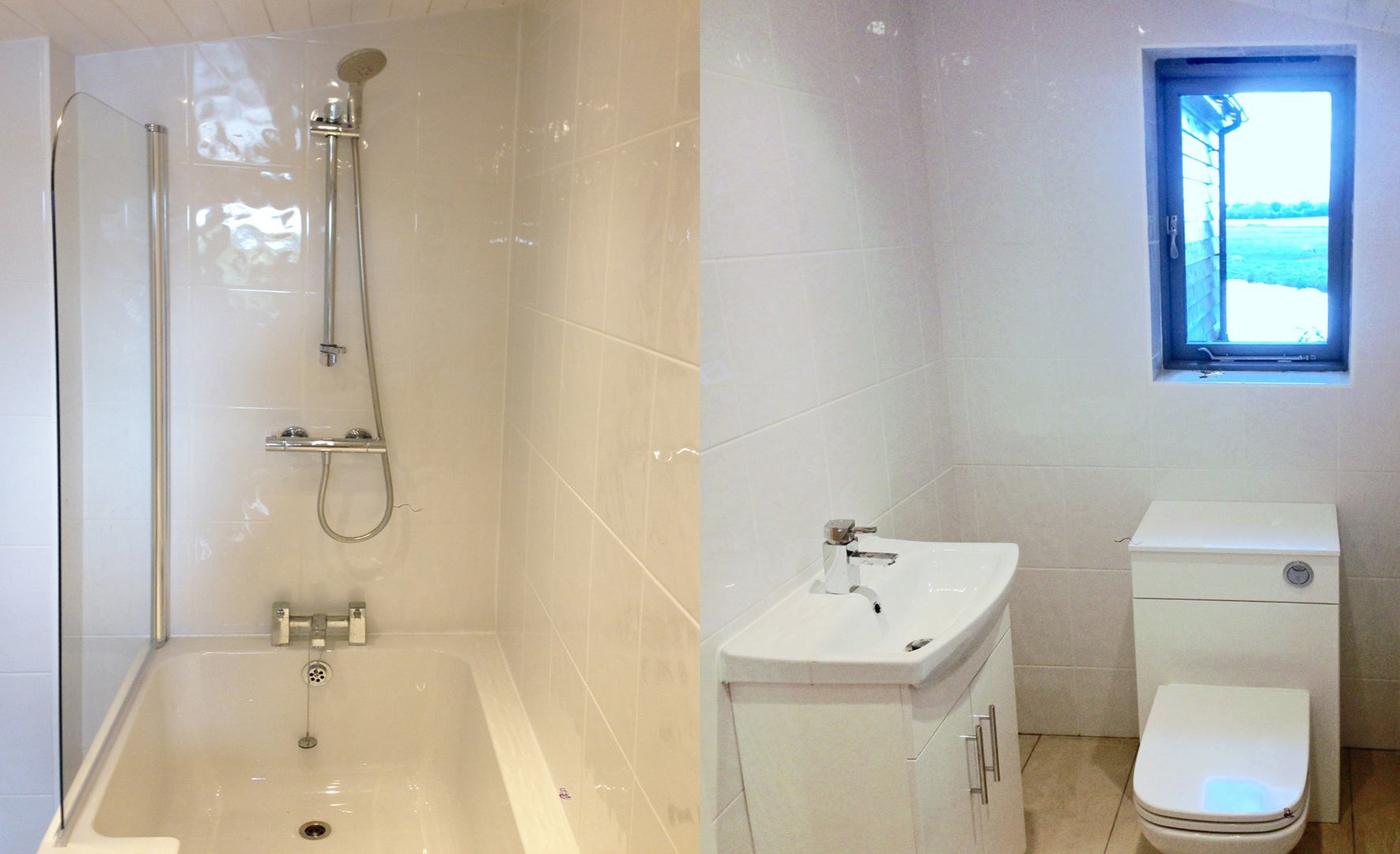 Bathroom with shower over bath - Short Stay Homes