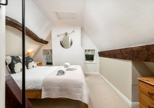 Beck Cottage Attic double with beams