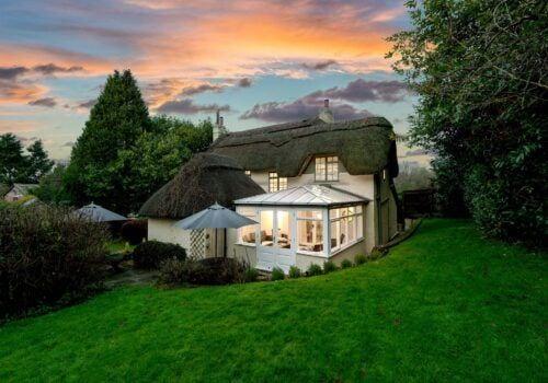 New Forest Cottage Beck Cottage Sunset