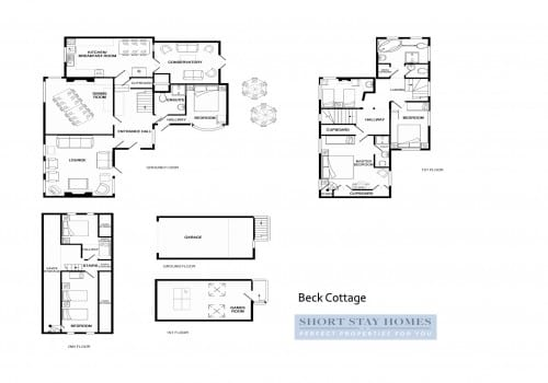 Floor plan to New Forest self catering cottage