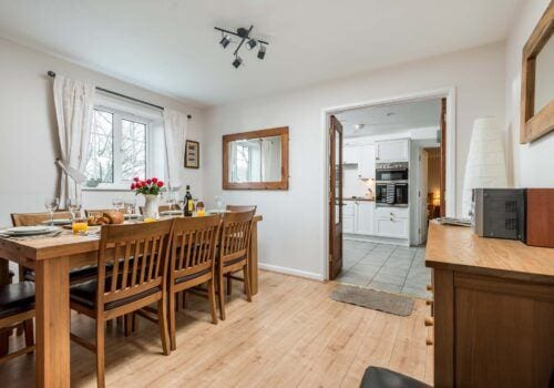 Holiday Cottage Hampshire Dining area Criddlestyle Cottage with sideboard