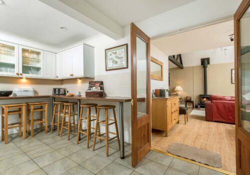 Luxury holiday home Criddlestlye Cottage double doors