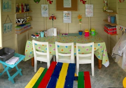 Play den at South Farm Holiday Cottages