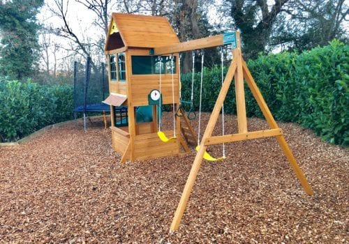 fun for all the family with this safe well equipped play area at criddlestyle cottage