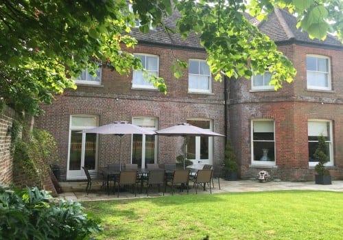 Spacious garden at Quay House a Dorset self catering holiday let