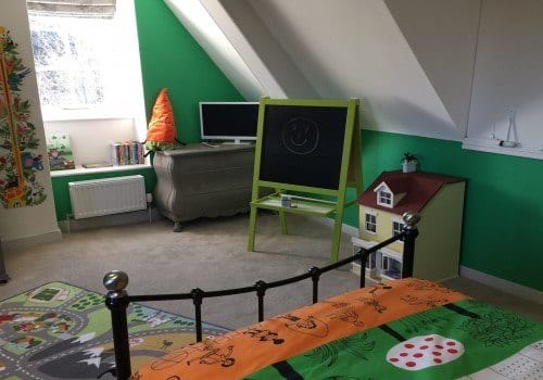 Childrens bedroom at Dorset holiday home with toys to play with