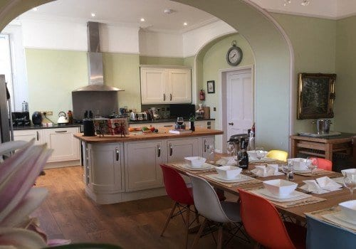 Spacious family dining kitchen with plenty of worktop space