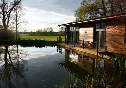 Cedar clad lodge on the river with fantastic views