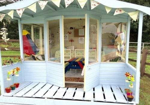 A fun summerhouse with craft ideas for kids at South Farm