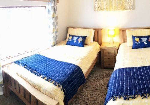 Twin Bedroom at self catering Farm House Devon