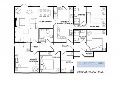 Floor plan to New Forest family holiday let