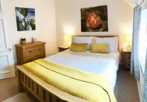 Double Bedroom with bright furnishings