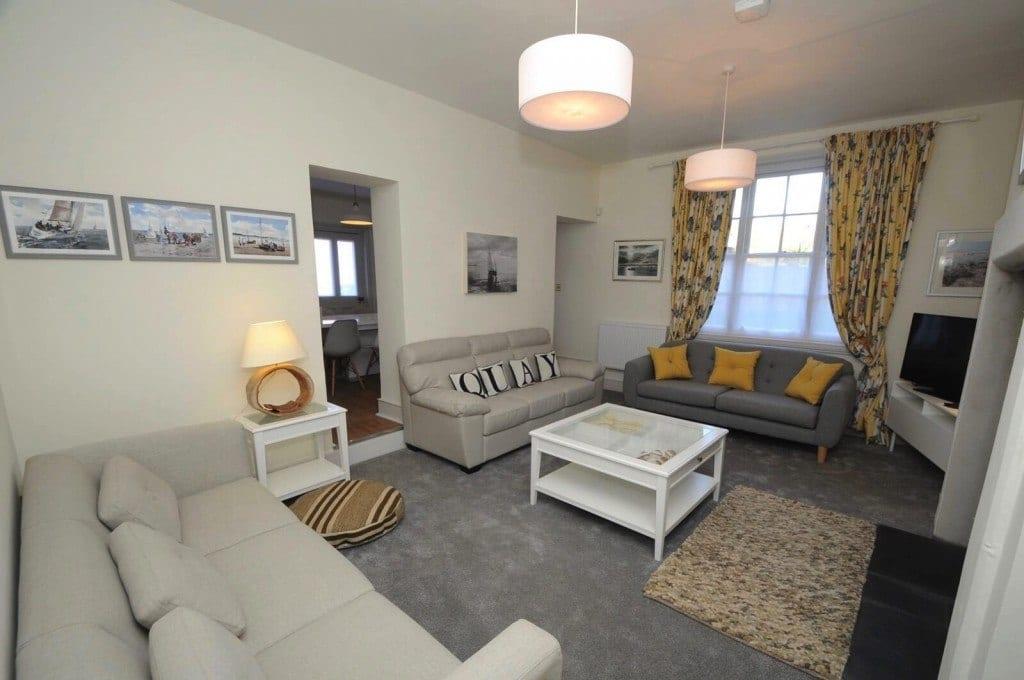 Dorset sef catering holiday let lounge Quay Corner