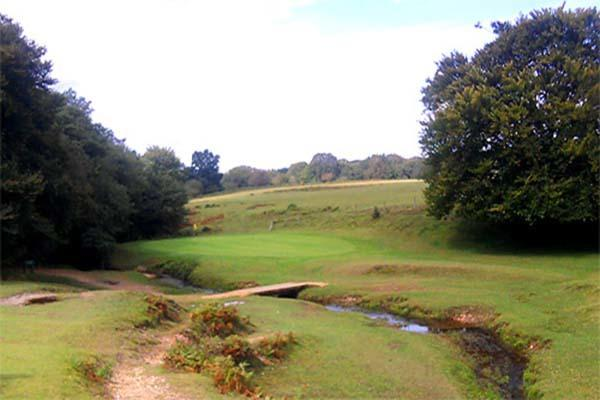 The rural views of Bramshaw Golf Course