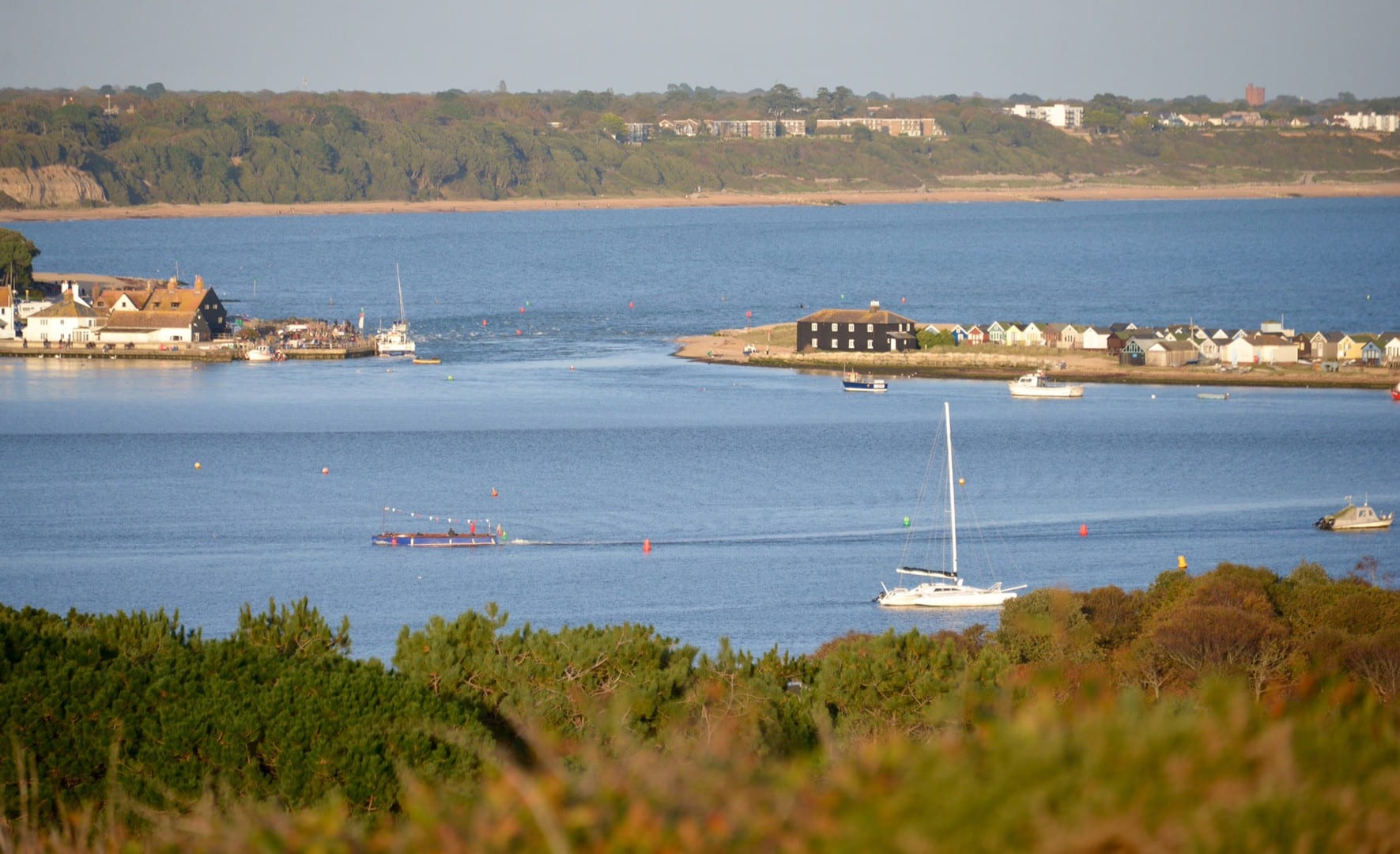 Gorgeous view on a sunny day of Mudeford from Hengistrybury Head