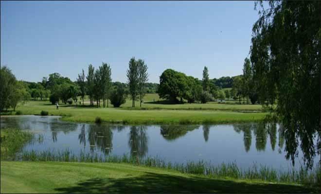 Stunning views over the green at Dudsbury Golf Club