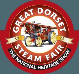 Great Dorset Steam Fair logo with a steam engine