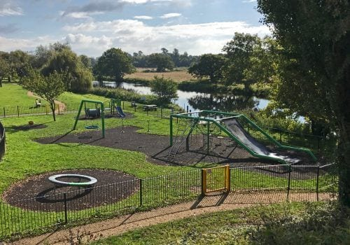 Childrens play area not far from Riverview with great views