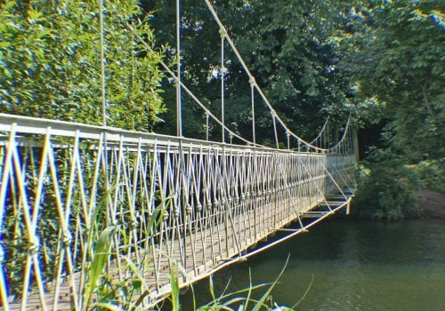 Pedestrian bridge across the River Stour