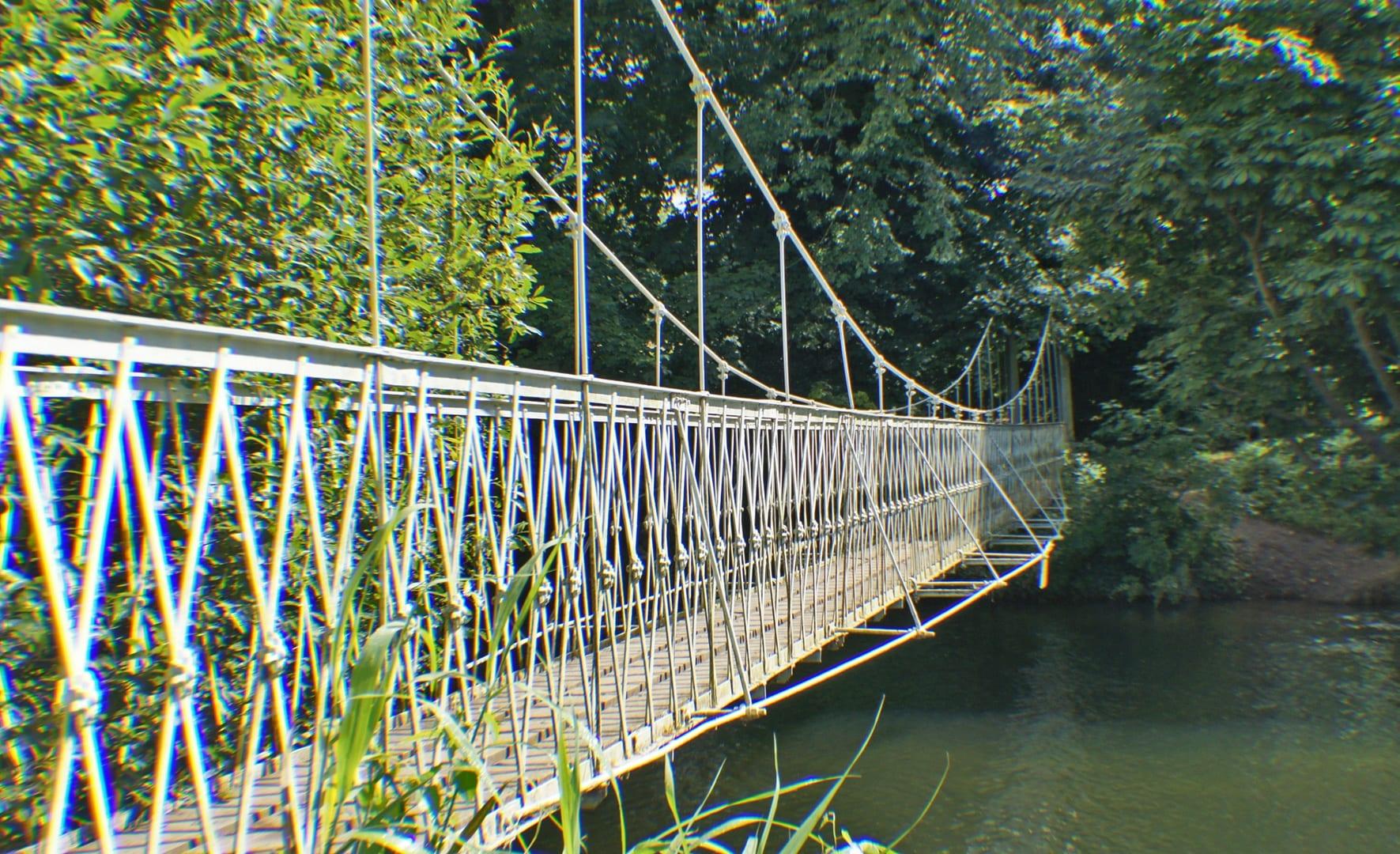 Pedestrian bridge across the River Stour