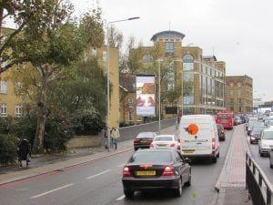 Photo of digital billboard central London