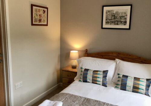 Ground Floor bedroom with wet room in Devon self catering home