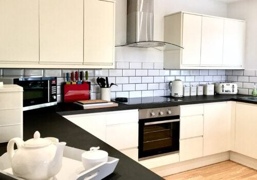 Clean and well equipped kitchen in Devon holiday Home