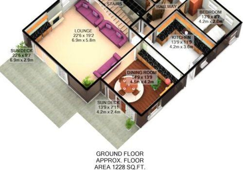BlackdownViews 3D floorplan ground floor