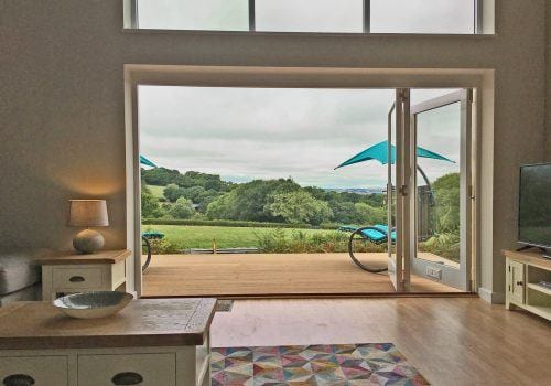 Lounge View through the bifold doors