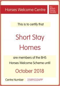 British Horse Society Certificate