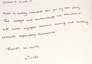 Guestbook review - Hen do