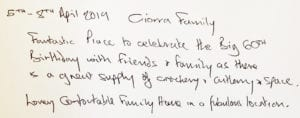 Guest book review quay house