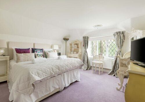 New Forest Cottage master bedroom Forest Drove