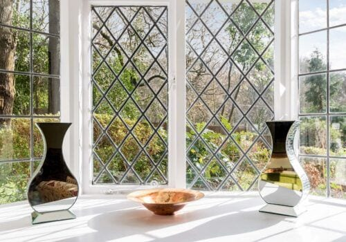 Self catering cottage Forest Drove Lattice Window