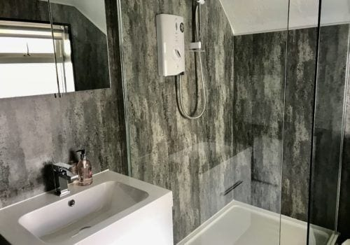 Stylish newly refurbished bathroom in a staycation holiday home