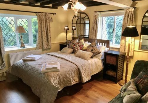 Ground floor double bedroom in our New Forest holiday cottage