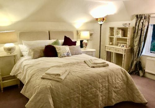 First Floor Master bedroom with Zip and Link Beds in our self catering holiday let cottage