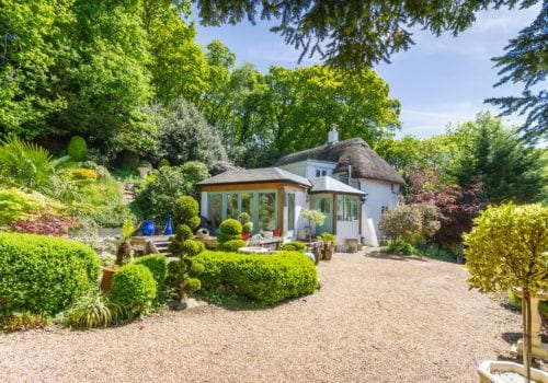Forest Drove Cottage self catering holiday cottage rear garden