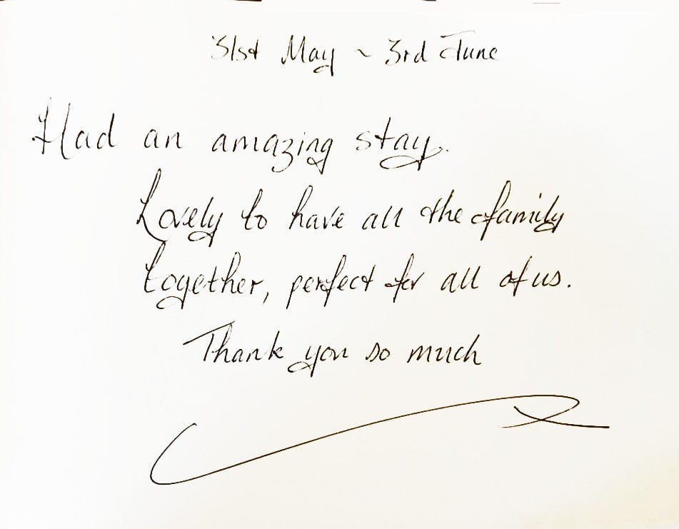 Guest book review for Quay House