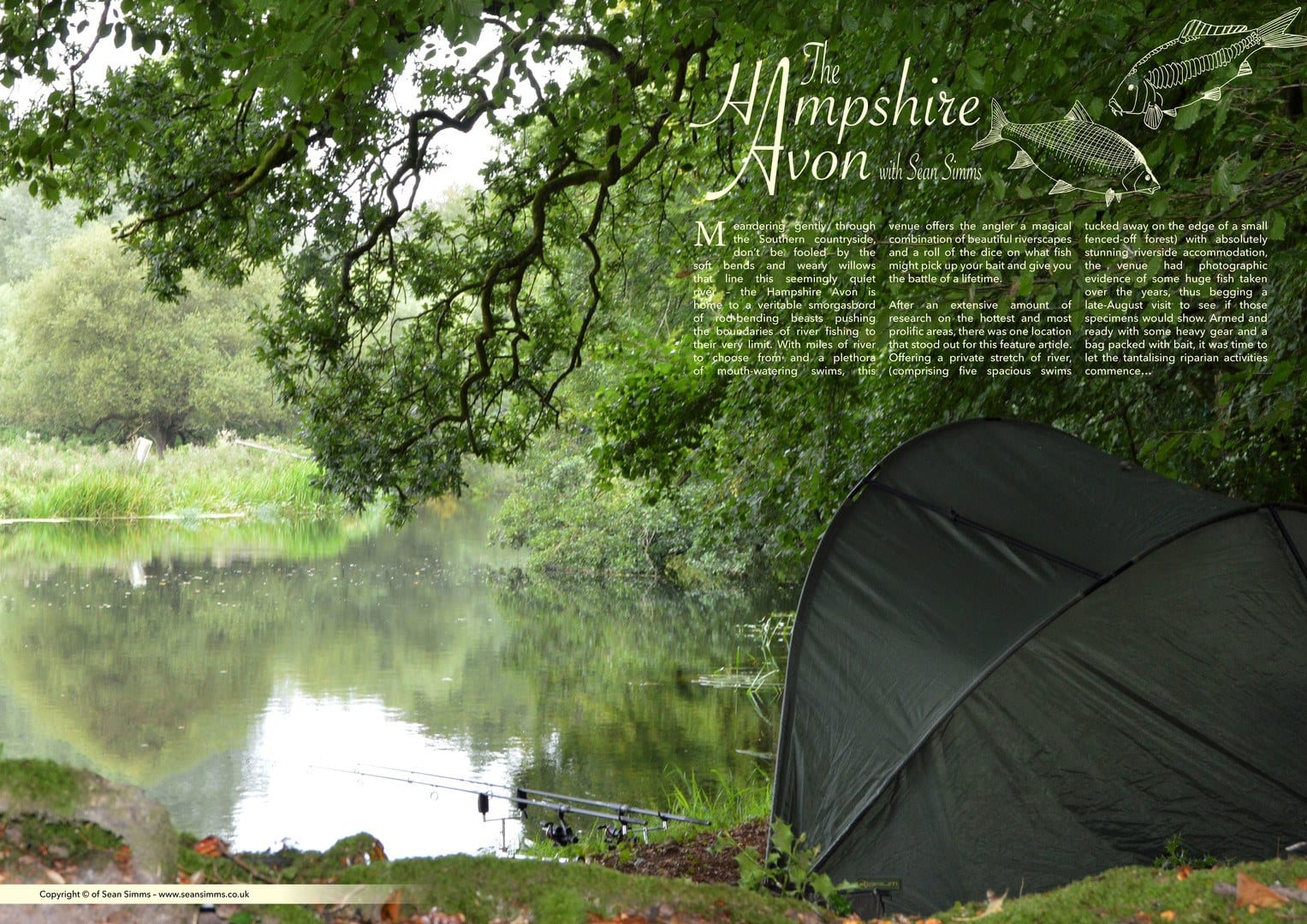 Fishing on the Hampshire Avon by Sean Simms