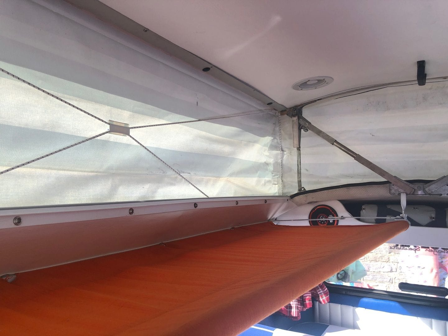 Roof space in Jessica the Campervan