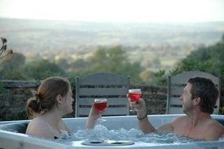 Enjoy a glass of bubbles in the hot tub