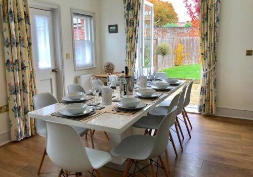Beautifully bright Dining at this Christchurch holiday home