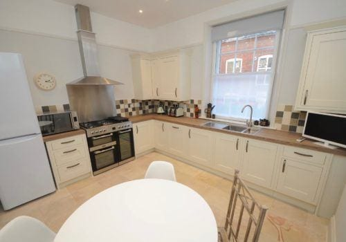 Large kitchen in this Dorset Holiday let