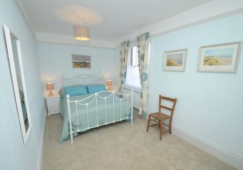 Lovely garden views from this peaceful double bedroom
