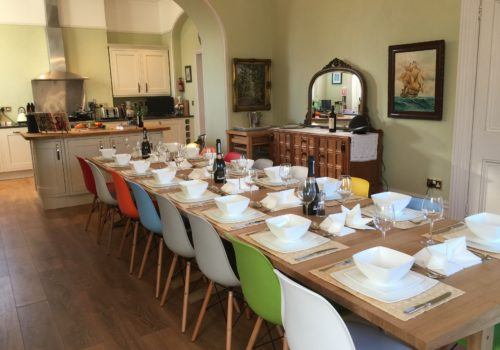 Lovely large dining area in impressive holiday home