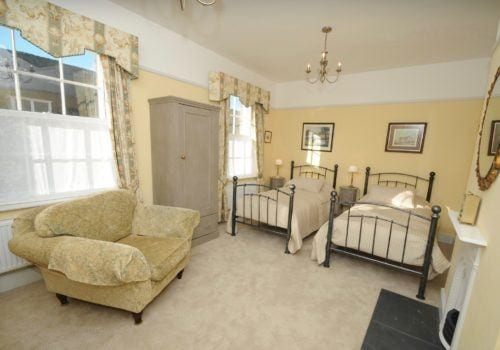 We call this twin bedroom our Jules Verne room great for boys!
